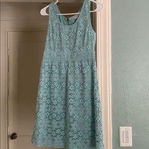 Loft Floral Lace Dress